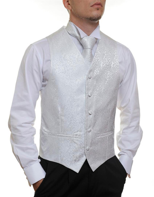 White Floral Vest