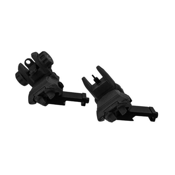 BLACK RIFLE DEPOT Polymer 45 Degree Pop-Up Sights, AR 15 Parts, AR 15 Accessories, AR 15 Sights