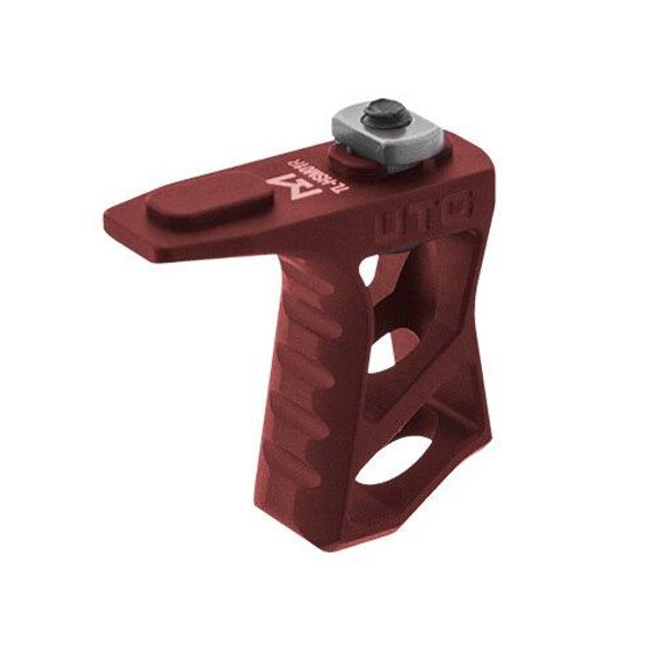 LEAPERS / UTG UTG M-LOK Ultra Slim Handstop - Red, Colored AR 15 Parts, Red AR 15 Parts, Fore Grip, AR 15 Parts, AR Parts, AR 15 Accessories