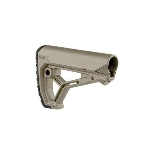 FAB DEFENSE FAB Defense GL-Core AR15/M4 Carbine Buttstock - FDE, AR 15 Stock, FDE AR 15 Stock, AR 15 Parts, AR Parts, AR 15 Spare Parts