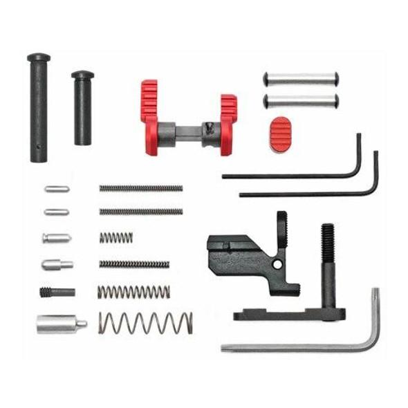 ARMASPEC Armaspec AR 10 Lower Parts Kit Less FCGGrip - RED, AR 10 Lower Parts Kit, AR 10 Parts, AR10 Parts, .308