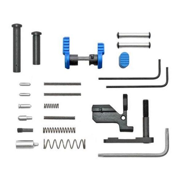 ARMASPEC Armaspec AR 10 Lower Parts Kit Less FCGGrip - BLUE