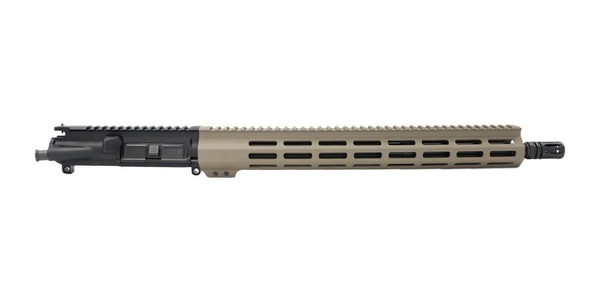 BLACK RIFLE DEPOT 16 5.56 Gov / SOCOM Mid length M-LOK AR 15 Upper Assembly FDE