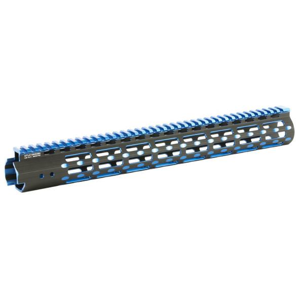 LEAPERS / UTG UTG 15 AR15 Compatible Super Slim Free Float Rail System BLK/BLU