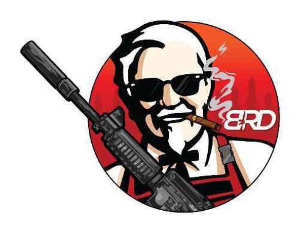 BLACK RIFLE DEPOT Finger Lickin Black Rifle Depot Sticker KFC