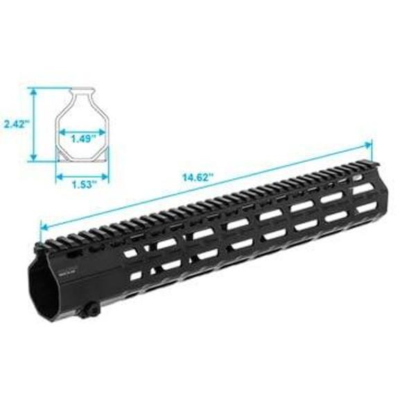 LEAPERS / UTG UTG MR556 M-Lok 15 Super Slim Free Float Handguard BLK