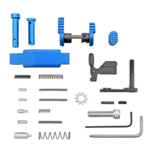 ARMASPEC Armaspec AR 15 Lower Parts Kit Superlight Less FCGGrip-BLUE