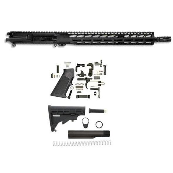 "AR 15 Parts, 16"" 5.56 Premium Rifle Build Kit W/15 M-LOK Handguard, AR 15 Build Kit, AR 15 Rifle Build Kit, AR 15 Upper, AR15 Complete Upper, AR 15 Rifle, AR 15 Parts"