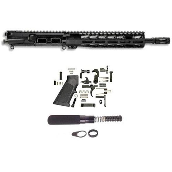 BLACK RIFLE DEPOT 11.5 5.56 Premium AR 15 Pistol Build Kit W/9.85 M-LOK Handguard