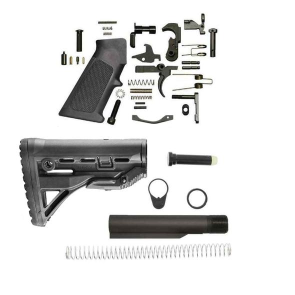 BLACK RIFLE DEPOT FAB GL-Shock AR15 Lower Build Kit, AR 15 Lower Build Kit, AR 15 Lower Kit, AR15 Lower Build Kit, AR 15 Lower Parts, AR 15 Lower Receiver Parts, AR15 Kit, AR 15 Kit, Best AR 15 Lower Build Kit, American Made AR 15 Lower Build kit