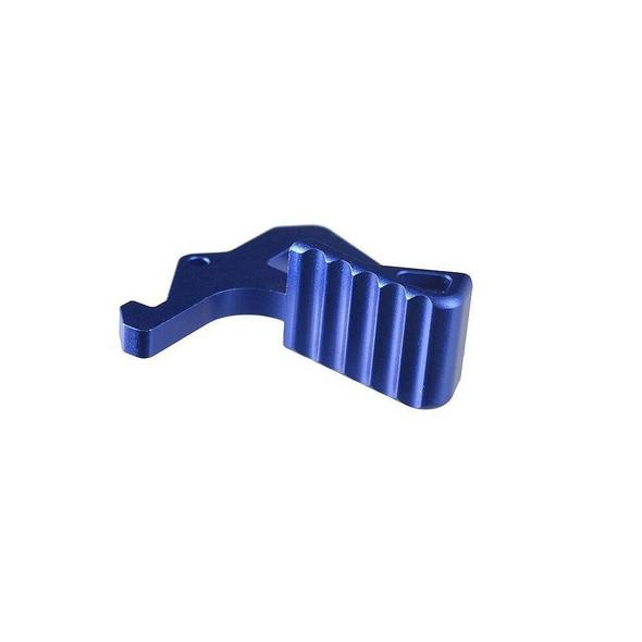 STRIKE INDUSTRIES Strike Industries Extended Charging Handle Latch - Blue, Charging Handle Latch, Strike Industries Parts, AR 15 Parts, Blue AR 15 Parts, Colored AR 15 Parts