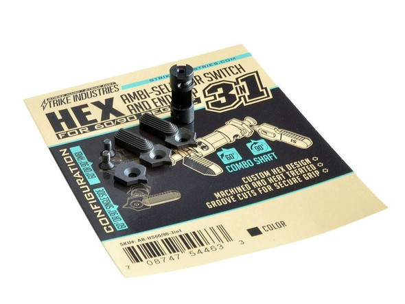 STRIKE INDUSTRIES Strike Industries HEX-60/90 Degree 3-in-1 Safety Selector Switch and Endcap
