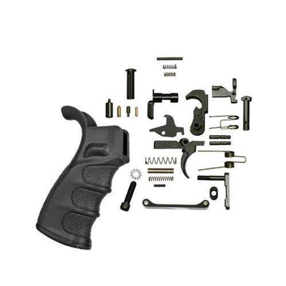 BLACK RIFLE DEPOT AR 15 lower Parts Kit with DMR Grip Black