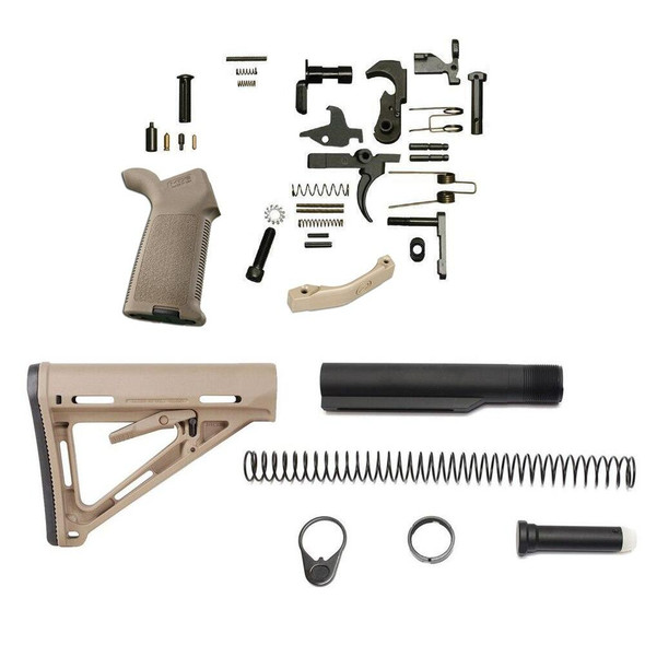 MAGPUL Magpul MOEr Lower Build Kit for AR 15 FDE, AR 15 Lower Build Kit, AR 15 Lower Kit, AR15 Lower Build Kit, AR 15 Lower Parts, AR 15 Lower Receiver Parts, AR15 Kit, AR 15 Kit, Best AR 15 Lower Build Kit, American Made AR 15 Lower Build kit