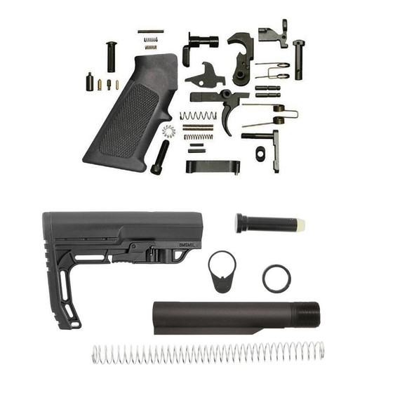 MISSION FIRST TACTICAL Minimalist AR 15 Lower Build Kit Black, AR 15 Lower Build Kit, AR15 Lower Build Kit, AR 15 LBK, AR 15 Lower Kit, AR 15 Lower Rifle Kit, AR 15 Parts, AR15 Parts, AR Parts, AR 15 Accessories, #1 AR Parts Retailer, American Made AR 15 Parts