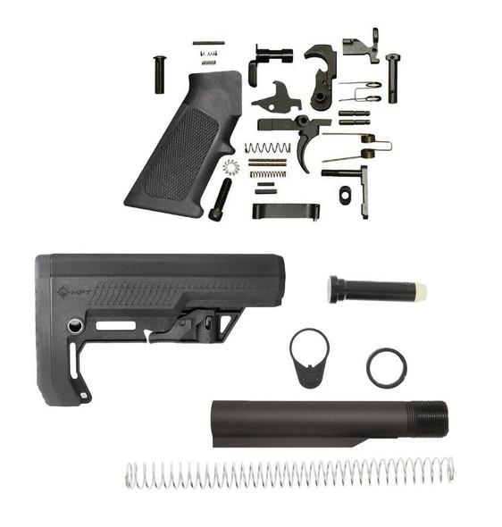 MISSION FIRST TACTICAL MFT Battlelink Extreme Duty Minimalist AR 15 Lower Build Kit BLK