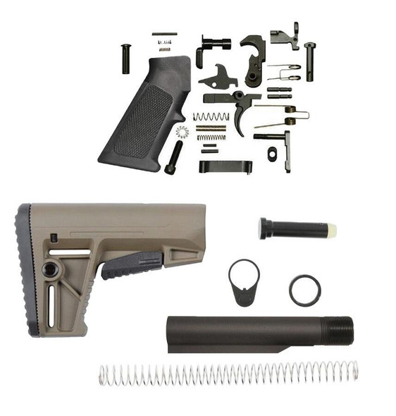 KRISS KRISS DS150 Mil-Spec AR 15 Lower Build Kit FDE