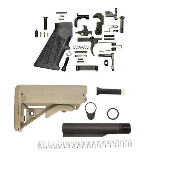 BLACK RIFLE DEPOT SOPMOD AR 15 Lower Build Kit - FDE