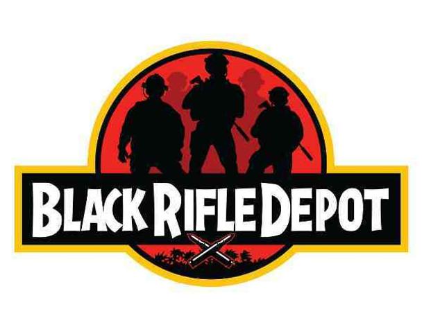 BLACK RIFLE DEPOT Jurassic Black Rifle Depot Sticker