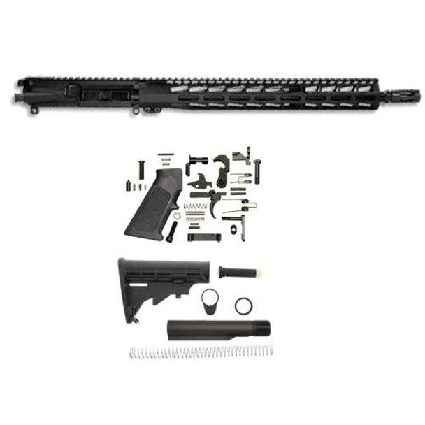"AR 15 Parts, 16"" 5.56 Premium Rifle Build Kit W/15 M-LOK Handguard, AR 15 Build Kit, AR 15 Rifle Build Kit, AR 15 Upper, AR15 Complete Upper, AR 15 Rifle Kit"