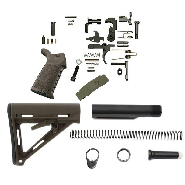 MAGPUL Magpul MOEr Lower Build Kit for AR 15 OD Green, AR 15 Lower Build Kit, AR 15 Lower Kit, AR15 Lower Build Kit, AR 15 Lower Parts, AR 15 Lower Receiver Parts, AR15 Kit, AR 15 Kit, Best AR 15 Lower Build Kit, American Made AR 15 Lower Build kit, AR 15 Parts, AR15 Parts, AR Parts