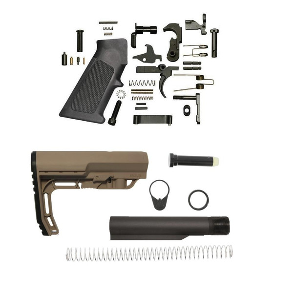 MISSION FIRST TACTICAL Minimalist AR 15 Lower Build Kit SDE, AR 15 Lower Build Kit, AR15 Lower Build Kit, AR 15 LBK, AR 15 Lower Kit, AR 15 Lower Rifle Kit, AR 15 Parts, AR15 Parts, AR Parts, AR 15 Accessories, #1 AR Parts Retailer, American Made AR 15 Parts
