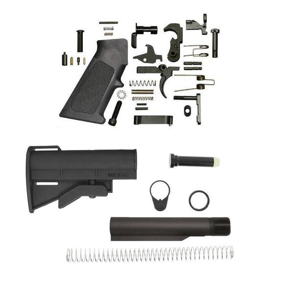 BLACK RIFLE DEPOT CQC 4 Position Micro AR 15 Lower Build Kit