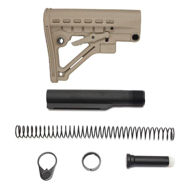 BLACK RIFLE DEPOT JE4 AR 15 Stock Kit - FDE