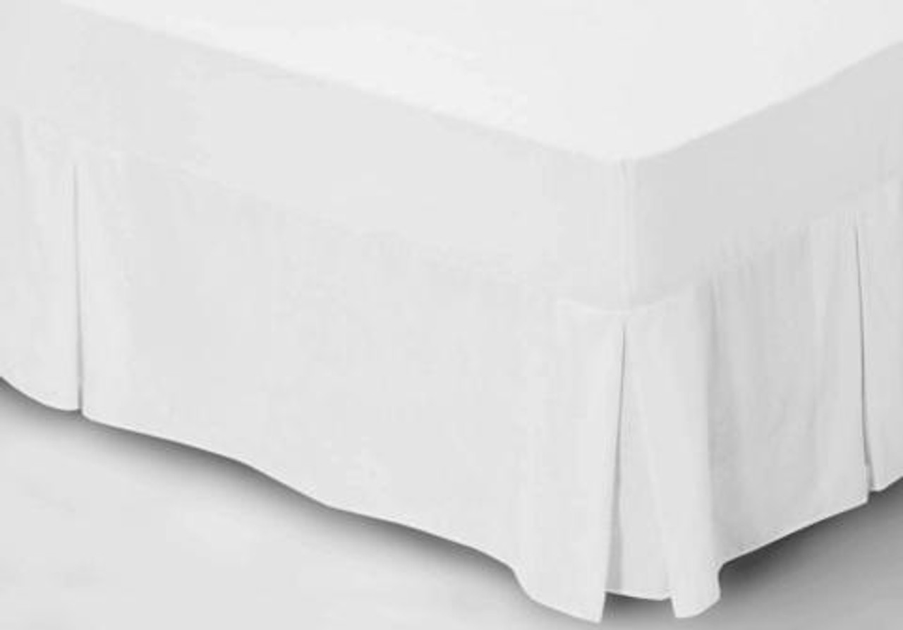 Luxury White Valance Sheet Luxury Poly Cotton Bed Linen