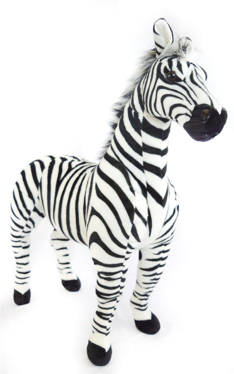 Zelassie The Zebra 3 Foot Big Stuffed Animal Plush Zebra Horse