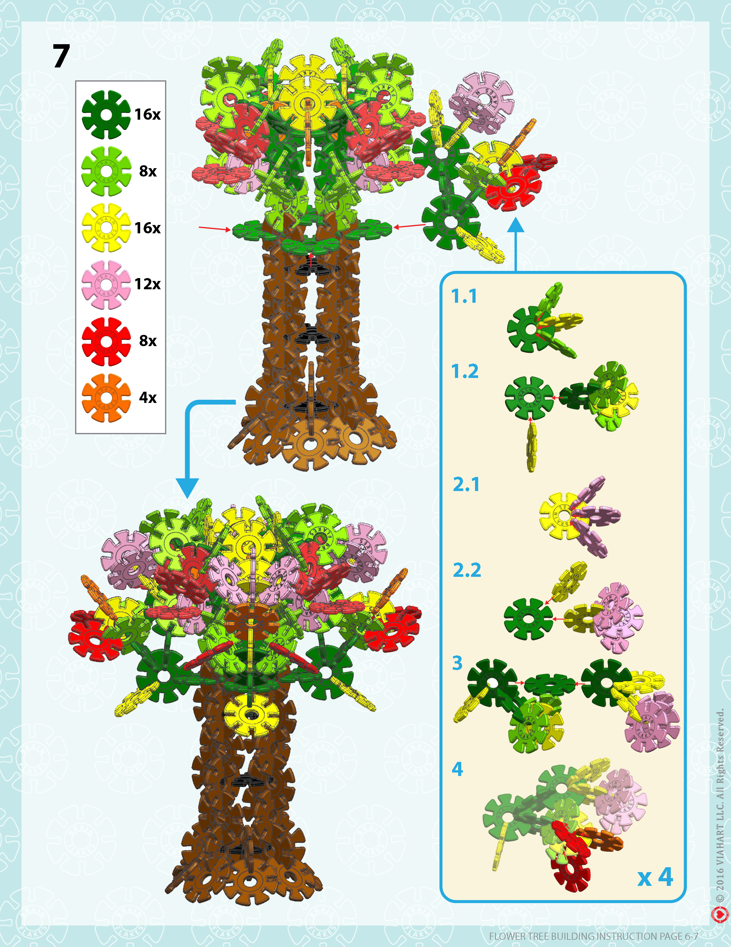 Brain Flakes Flower Tree Instrucions Page 6