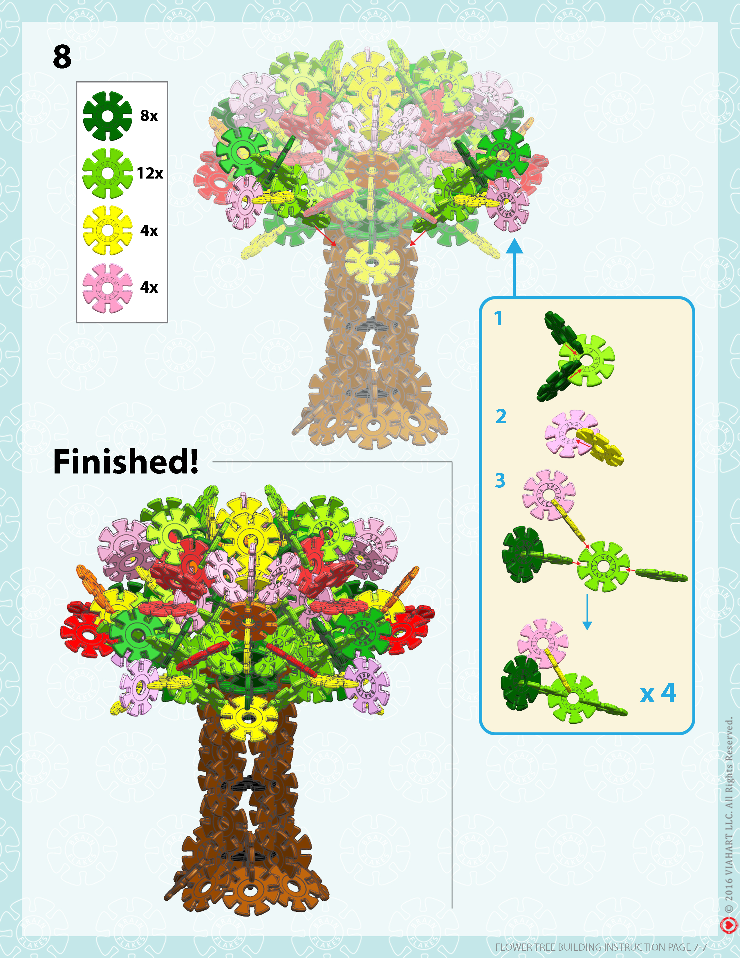 Brain Flakes Flower Tree Instrucions Page 7
