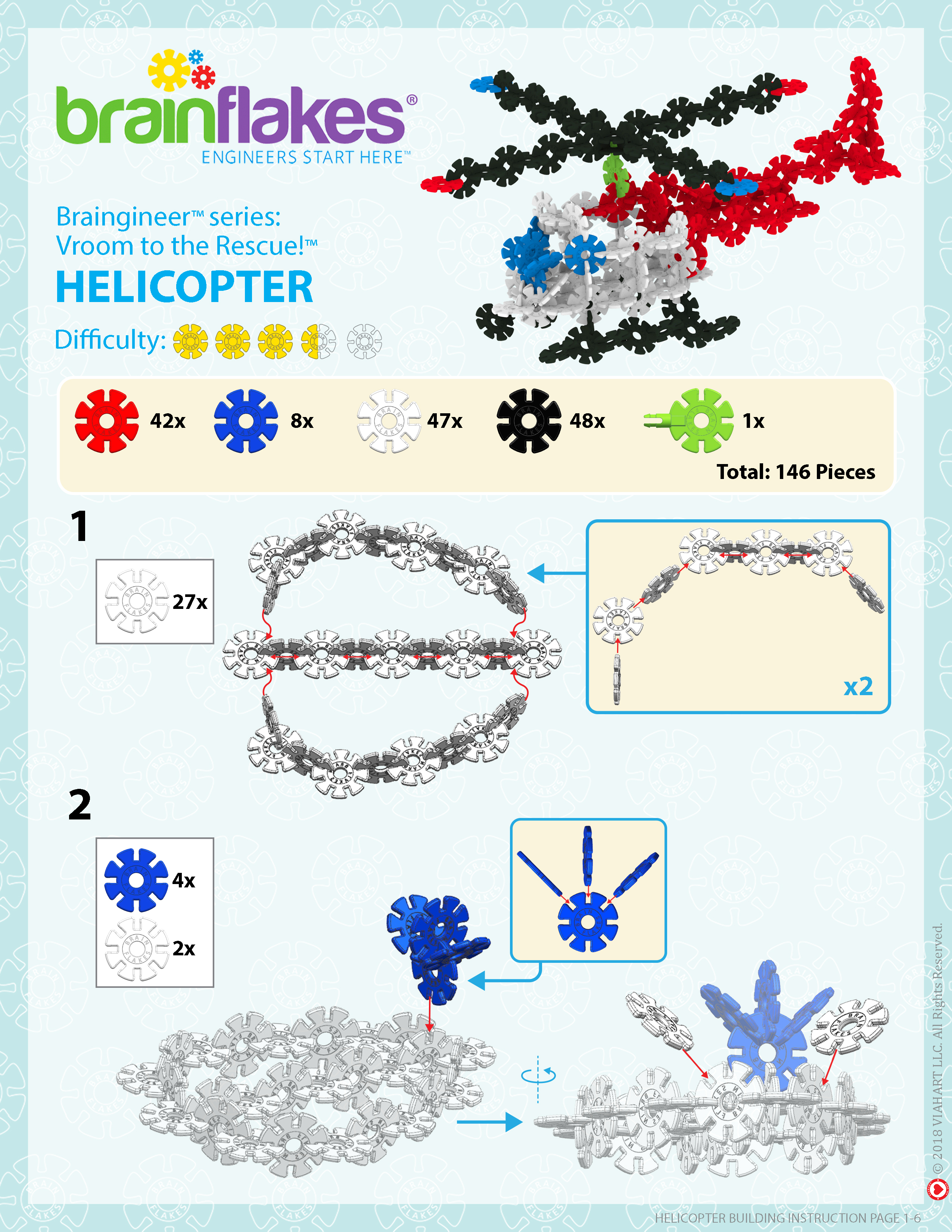 Brain Flakes Helicopter Instructions Page 1