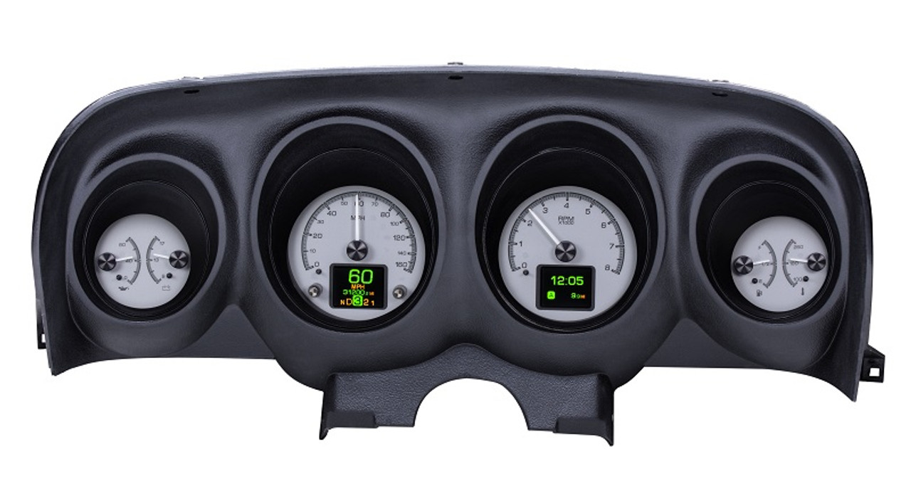 Dakota Digital 1969-70 Ford Mustang Customizable Analog Gauge System  HDX-69F-MUS