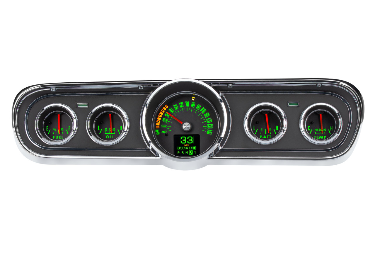 Dakota Digital 1965-66 Ford Mustang Retrotech Customizable Analog Gauge  System RTX-65F-MUS-X