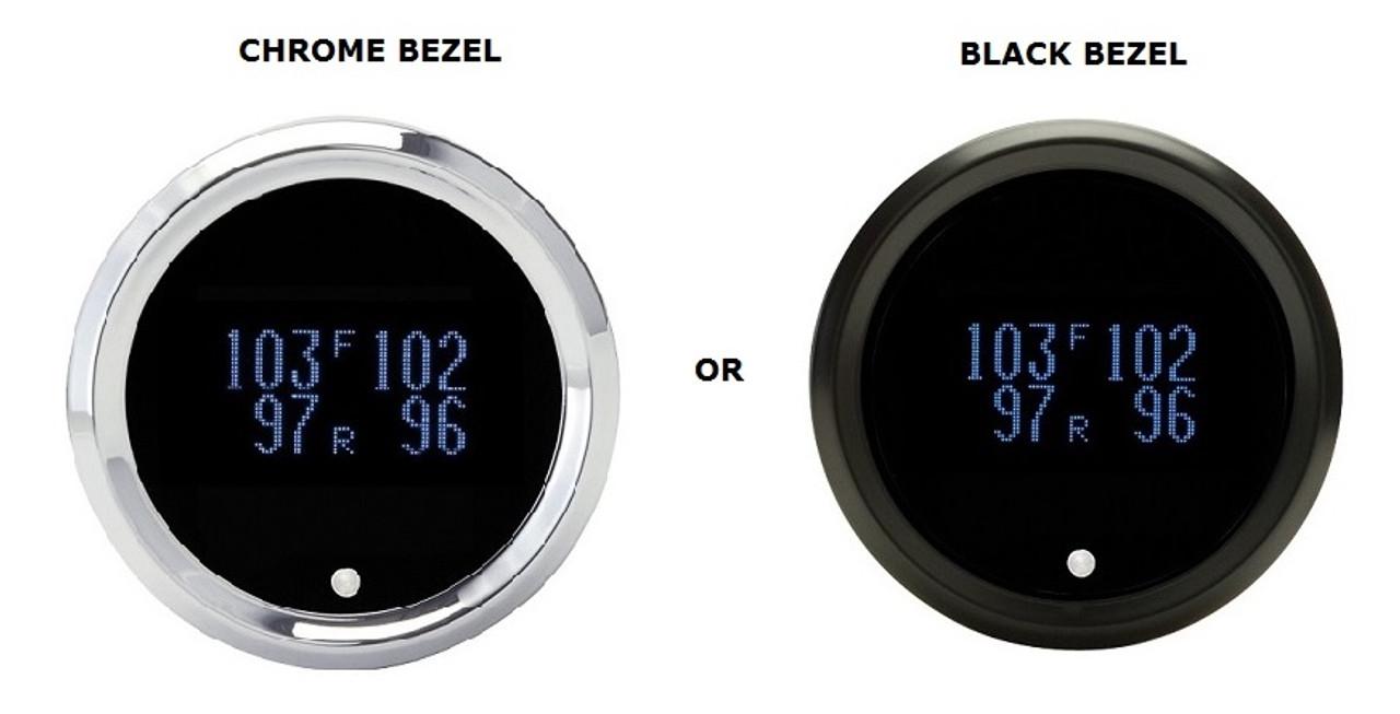 "Dakota Digital Solarix 2-1//16/"" Round Clock Gauge Date Temp Blue Display SLX-16-1"