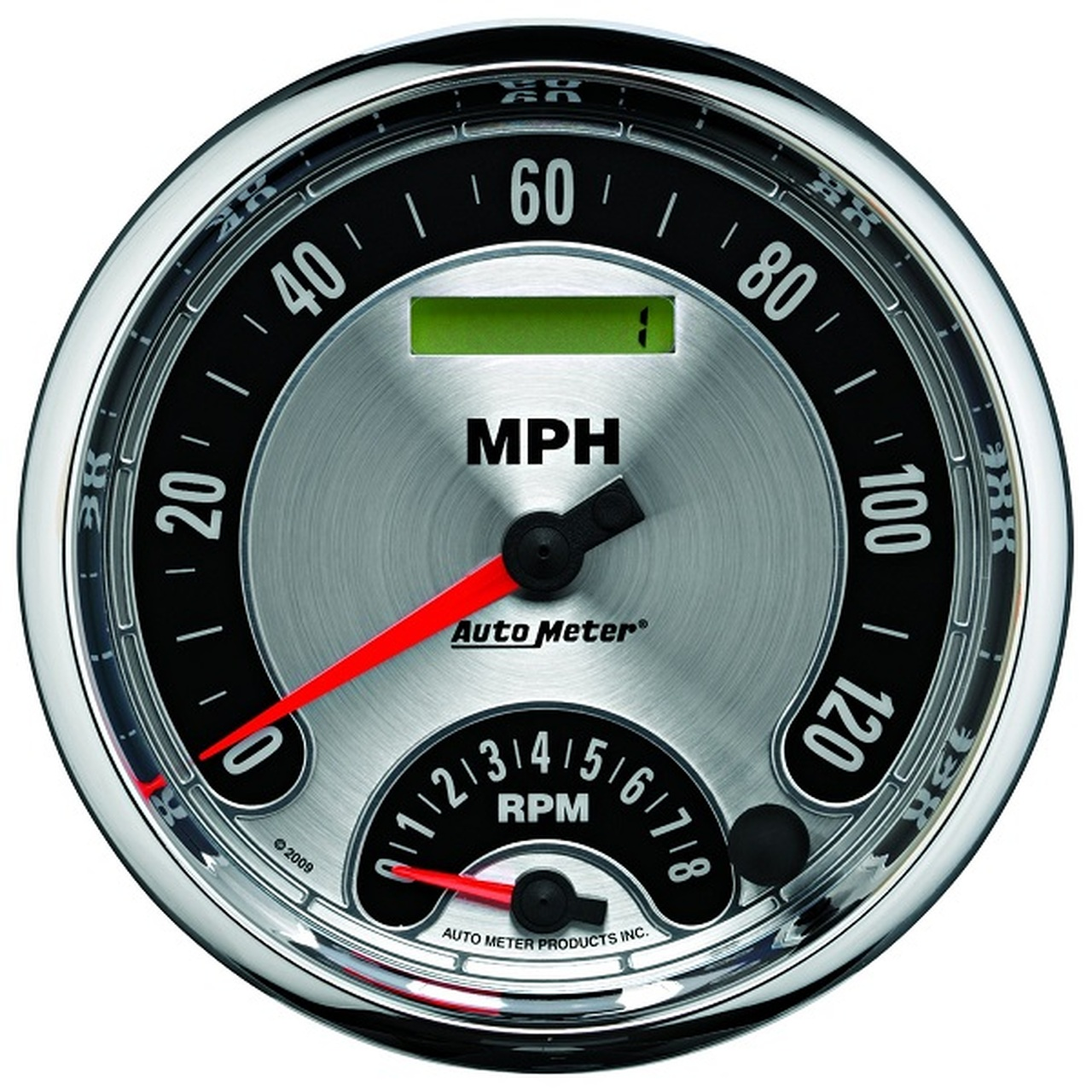 Auto Meter 1298 American Muscle 3-3//8 8000 RPM In-Dash Tachometer Gauge