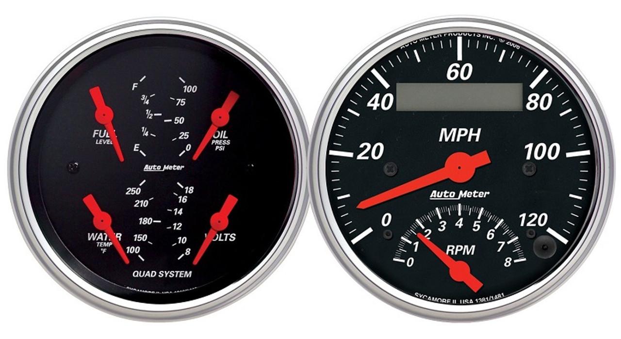 Auto Meter 1381 Arctic White Tach//Speedo Combo
