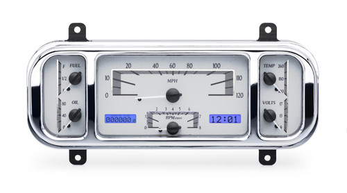 VHX-37C-S-B with SILVER ALLOY style and BLUE backlighting