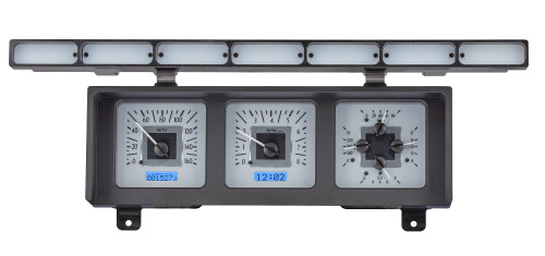 VHX-80F-PU-S-B with SILVER ALLOY style and BLUE backlighting, Kit View