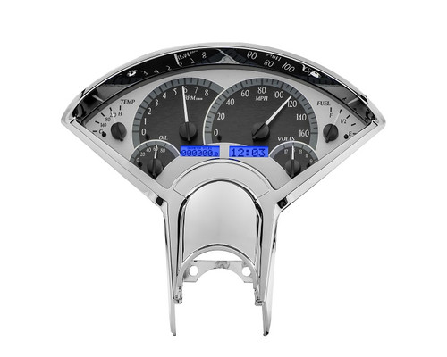 VHX-55C-S-B with SILVER ALLOY style and BLUE backlighting, bezel is NOT included
