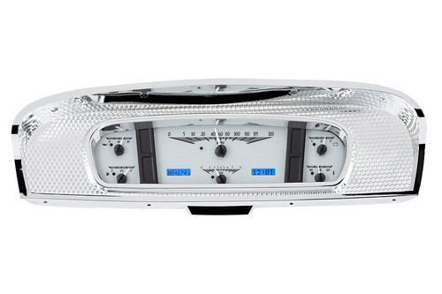 VHX-65F-PU-S-B (silver alloy style/blue backlighting), bezel is NOT included
