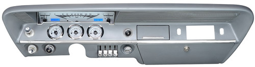 VHX-61C-IMP-S-B with SILVER ALLOY style and BLUE backlighting (bezel/speedometer chrome trim shown in pic are NOT included, shown for illustrative purposes only)