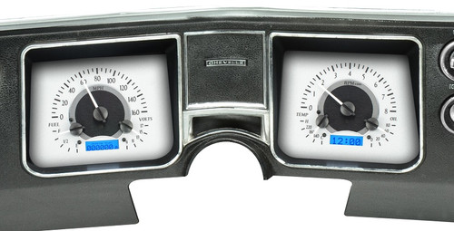 VHX-68C-CVL-S-B with SILVER ALLOY style and BLUE backlighting, bezel is NOT included