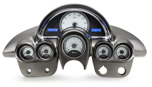 VHX-58C-VET-S-B (silver alloy style/blue backlighting), gauge pods/housing shown in pic are NOT included
