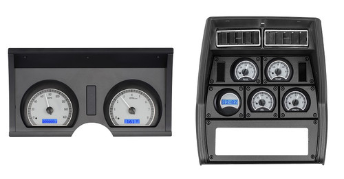 VHX-78C-VET-S-B with SILVER ALLOY style and BLUE backlighting, bezel is NOT included