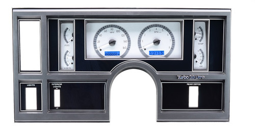 VHX-84B-REG-S-B with SILVER ALLOY style and BLUE backlighting, bezel shown in pic is NOT included