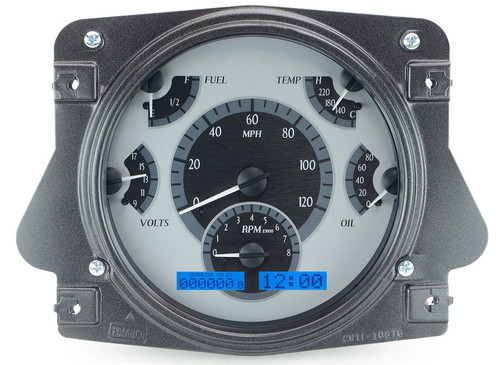 VHX-66F-BRO-S-B with SILVER ALLOY style and BLUE backlighting