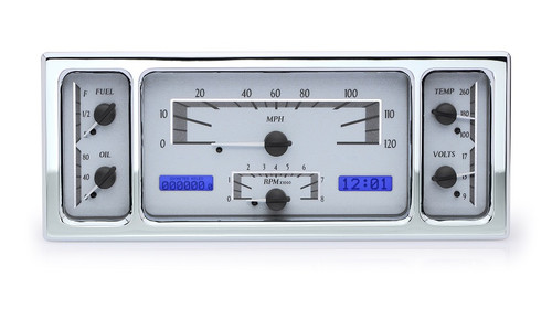 VHX-35F-S-B with SILVER ALLOY style and BLUE backlighting