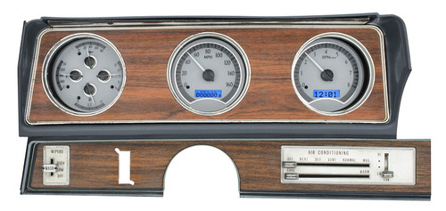 VHX-70O-CUT-S-B with SILVER ALLOY style and BLUE backlighting, bezel is NOT included